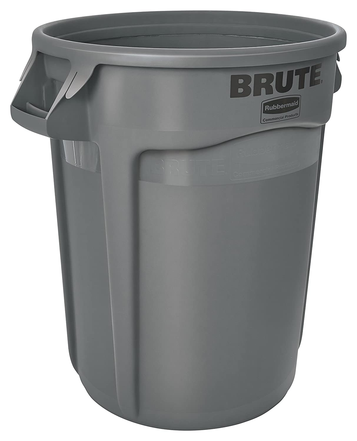 Rubbermaid FG261000GRAY-001 Brute Round Container, 37.9 L, Grey Newell Rubbermaid RMC1074_1801687