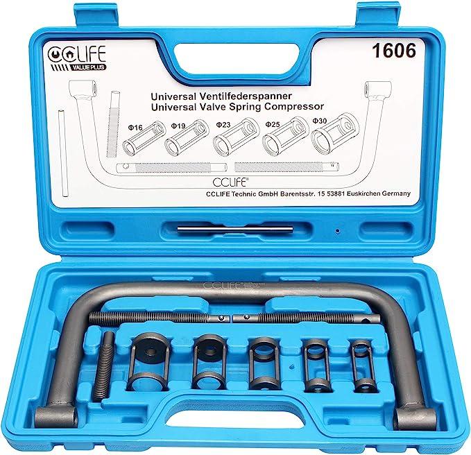 Cclife Universal Ventilfederspanner Ventilfeder Spanner Satz Ventil Montage Kompressor Kit Werkzeug Auto