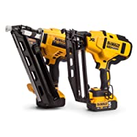 DEWALT DCK264P2-18V-XR Cordless Li-Ion Brushless Nailer Twin Pack in Tough System Box - Yellow/Black