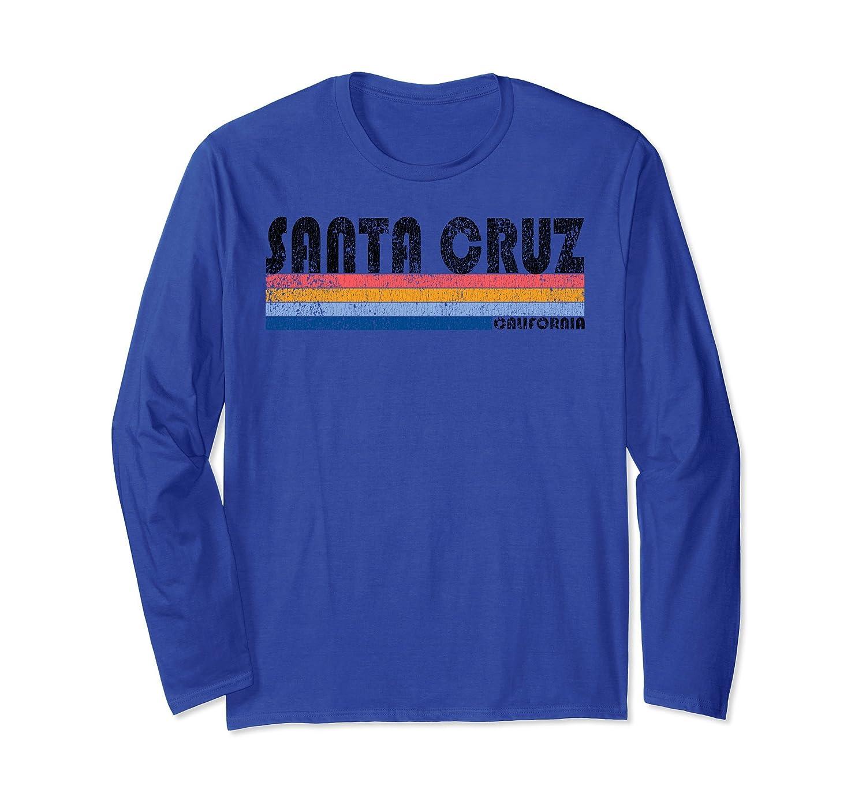 Vintage 1980s Style Santa Cruz CA Long Sleeve T Shirt-ln