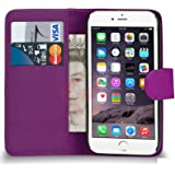 Supergets® Schlichte Einfarbige Hülle für Apple iPhone 5/5s Buch-Stil Tasche in Lederoptik Brieftasche Etui Schale Case, Mini Eingabestift, Schutzfolie