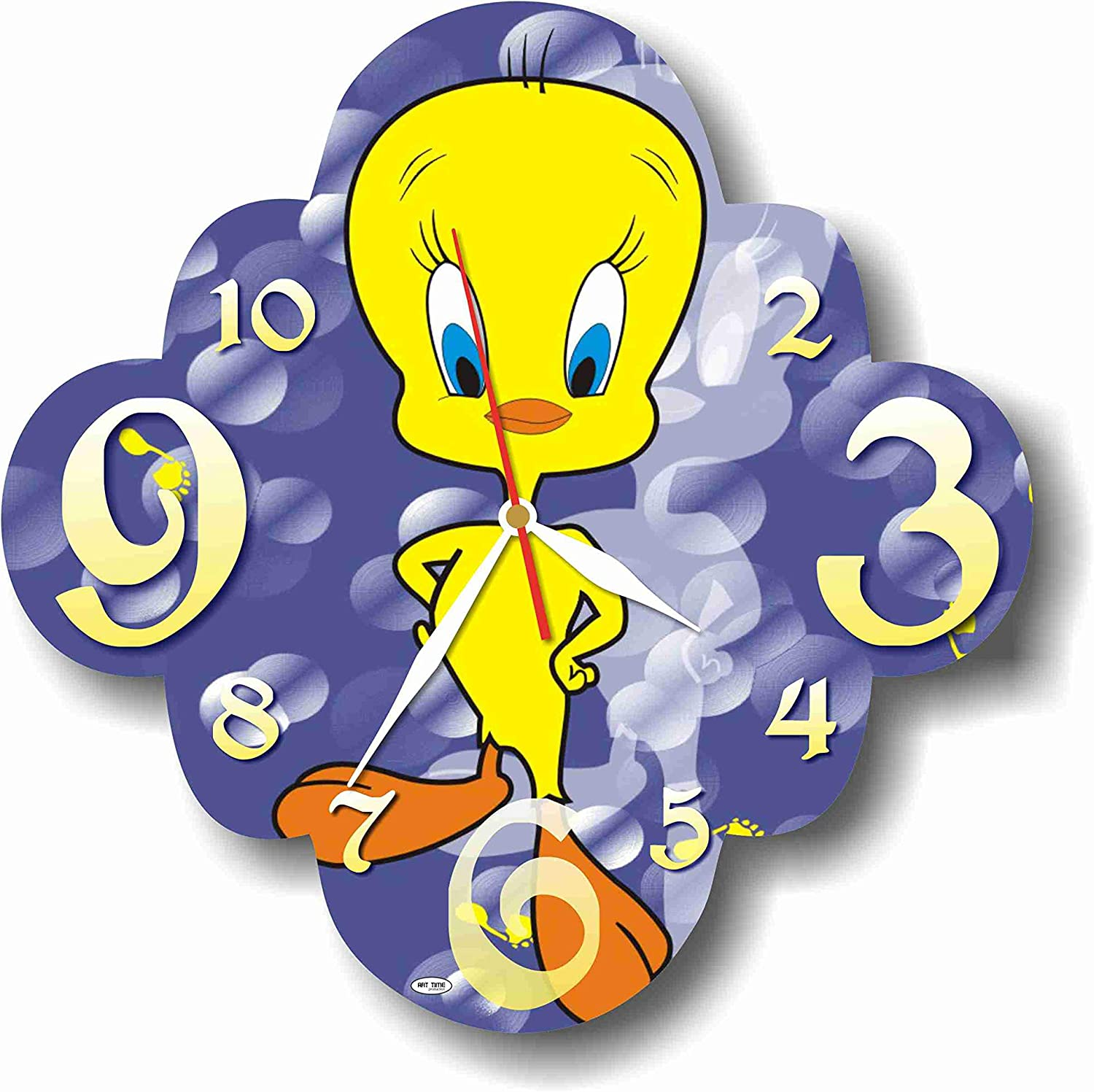 MAGIC WALL CLOCK FOR DISNEY FANS Looney Tunes-Tweety 11'' Handmade Made of Acrylic Glass - Get Unique décor for Home or Office – Best Gift Ideas for Kids, Friends, Parents and Your Soul Mates