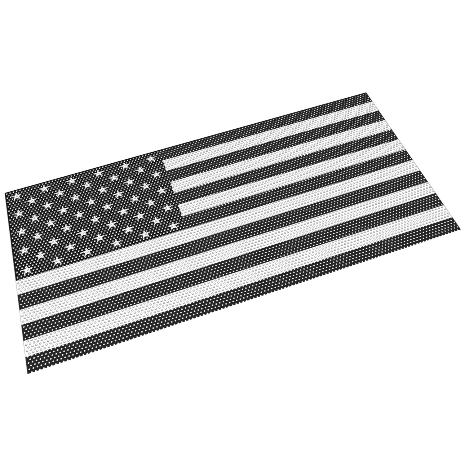 Sunluway Front Grille Mesh Insert Grill Screen US Flag Bug Deflector Net for 2018 2019 Jeep Wrangler JL JLU