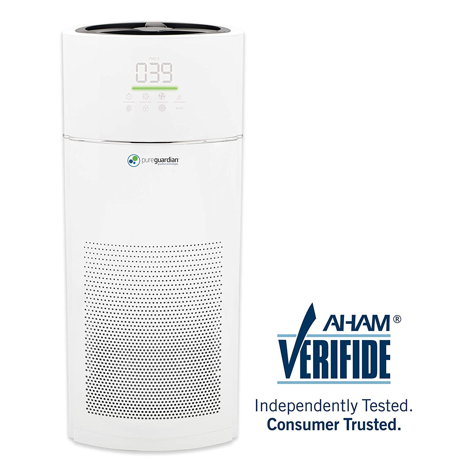 Germ Guardian High CADR True HEPA Filter Air Purifier for Home, Large Rooms up to 402 sq ft, Filters Allergies, Pollen, Smoke, Dust, Pet Dander, Mold, Odors, Deodorizer with Ionizer, Quiet AC9400W