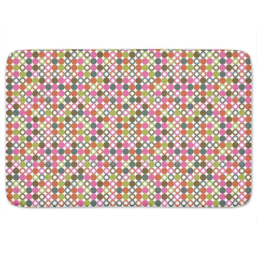 Star Bingo Bathroom Rugs: Memory Foam (24 X 36 inch) Incrediby Soft Memory Foam Spa Quality by uneekee