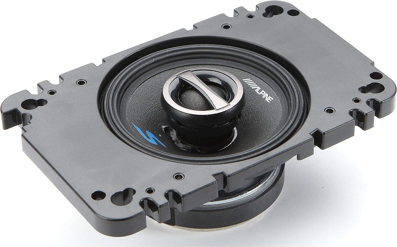 2. Alpine S-S40 4-inch Coaxial 2-Way Speakers
