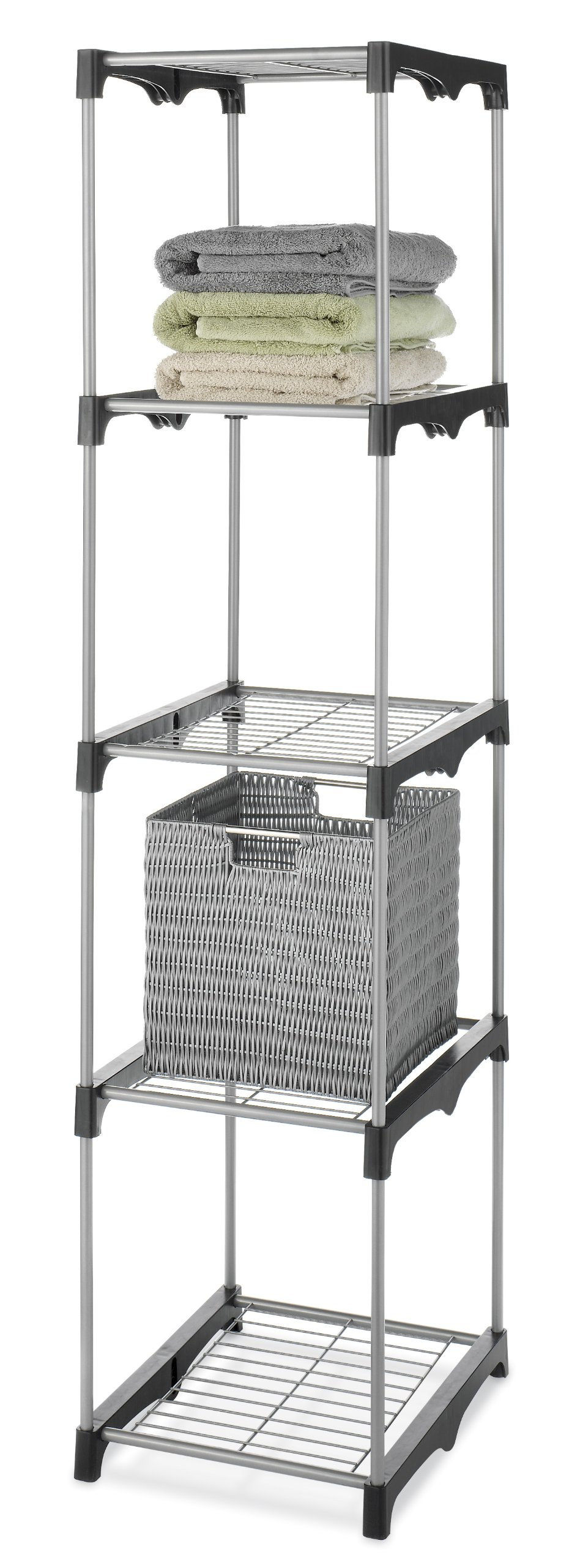 Whitmor 5 Tier Shelf Tower - Closet Storage Organizer