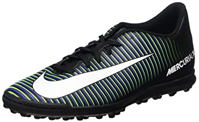 Nike Men's MercurialX Voortel III TF Turf Soccer Shoes (8, Black/White/