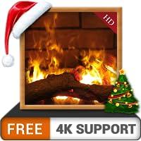 ambiente da lareira HD grátis - Aproveite as férias de Natal do inverno até o auge em sua TV HDR 4K e dispositivos de incêndio como papel de parede e tema de mediação e paz