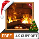 ambiance de cheminée HD gratuitement - Profitez des vacances de Noël hivernales à son comble sur votre téléviseur HDR 4K et votre périphérique Fire, en tant que papier peint et thème pour Mediation &