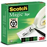 Scotch M8102566 Klebeband Magic 810, Zellulose Acetat, matt & unsichtbar, 25 mm x 66 m