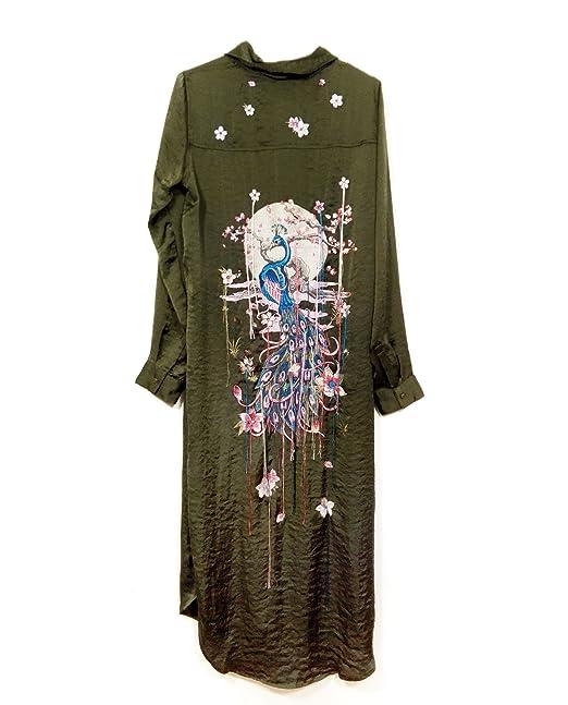 Zara - Camisas - para mujer Verde verde Large