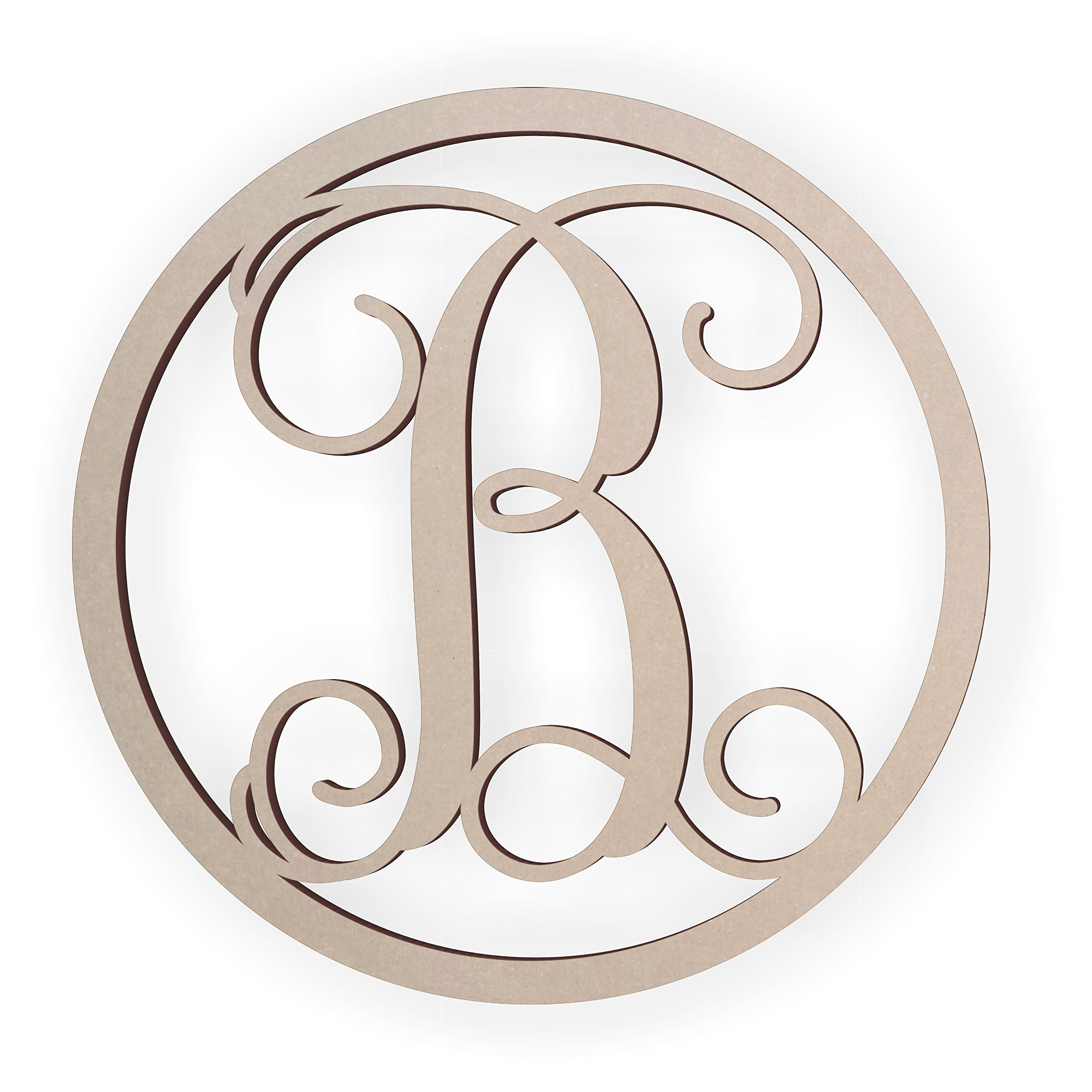 Jess and Jessica Wooden Letter B, Wooden Monogram Wall Hanging, Large Wooden Letters, Cursive Wood Letter