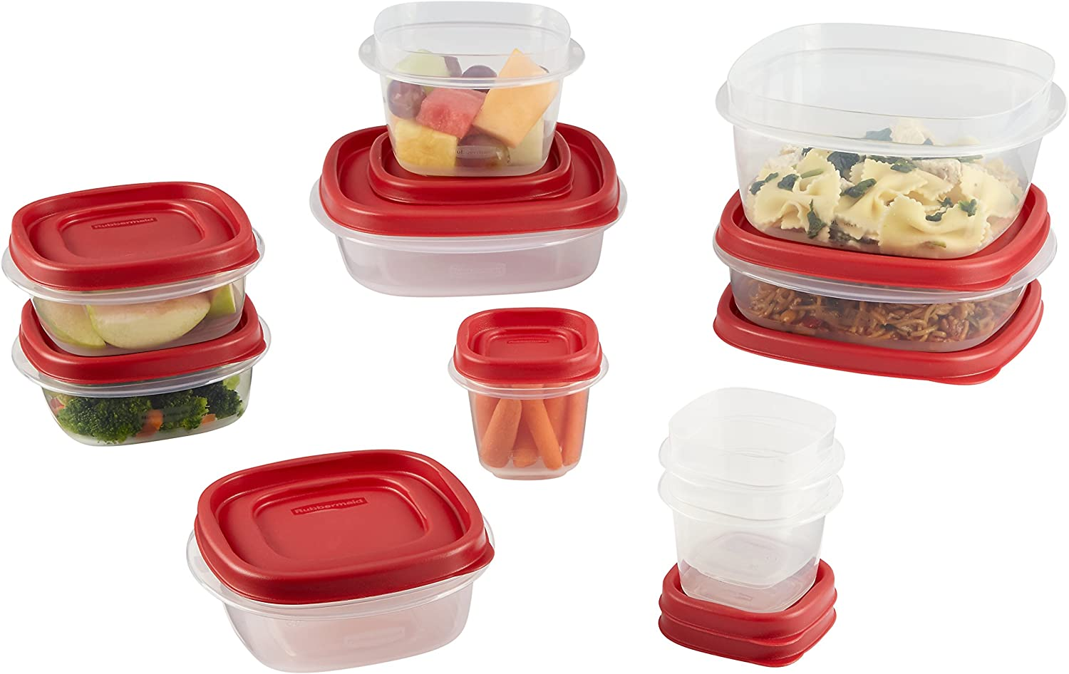 Rubbermaid Easy Find Lids Food Storage Containers, Racer Red, 20-Piece Set 1783142