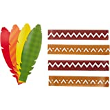 Amscan Festive Fall Thanksgiving Make Your Own Headb& Activities Childrens Costume Headwear and Hats (420), 48 Pieces