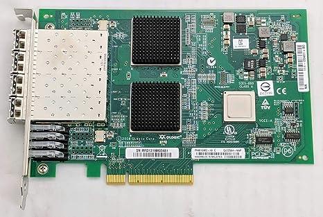 Quad Port PCI-Ex8 Fibre Channel HBA Controller w// 4x 8GB SFP QLogic QLE2564