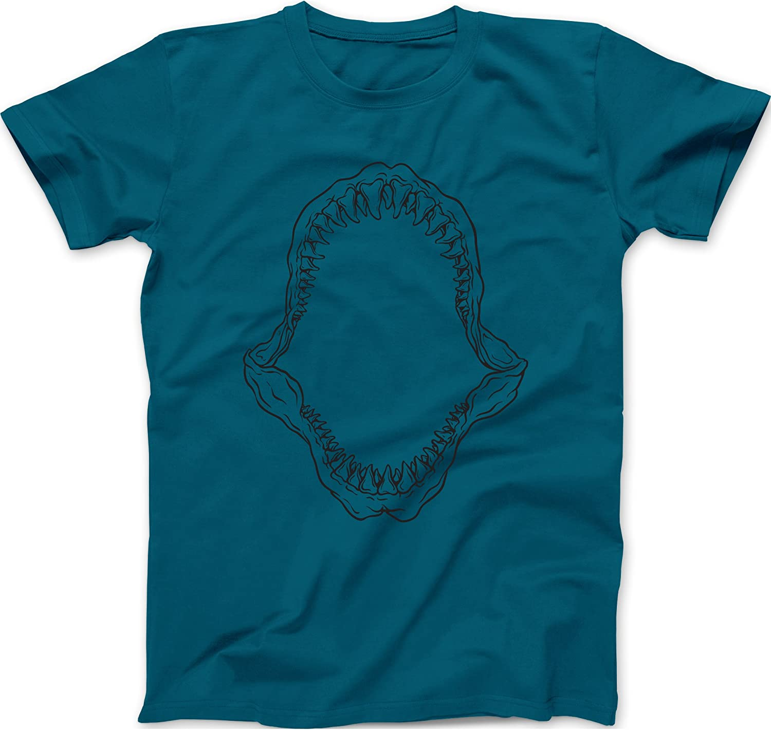 Trunk Candy Mens Fossil Shark Jaws Premium 100% Cotton T-Shirt