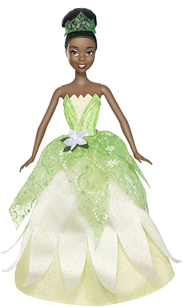 "Disney Princess Mini Tiana 3.5/"" Posable Doll Princess and The Frog with Glitter"