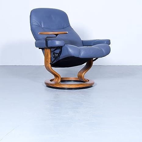 ekornes Stressless Consul Relax sillón azul piel tamaño m ...