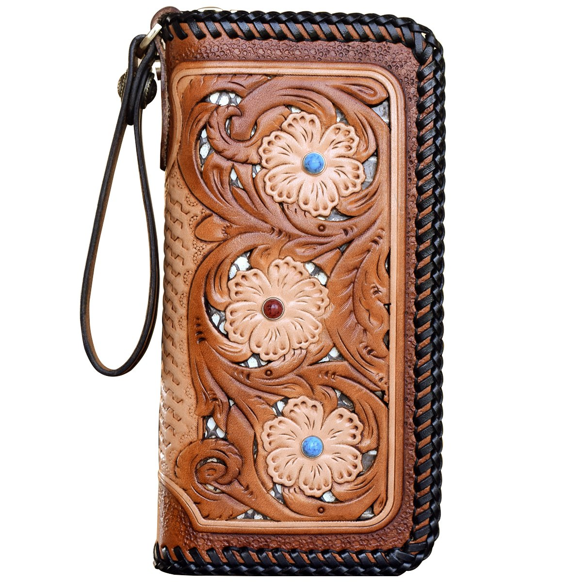 OLG.YAT Vegetable tanned leather Retro Genuine Leather Men's Wallets WL20LKDH4 by OLG.YAT