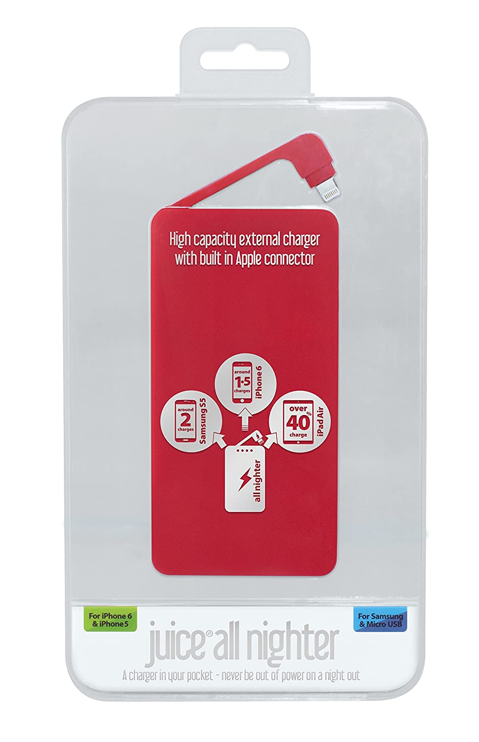 5d3bd4bd137494 Juice Allnighter Powerbank - A charger in your pocket: Amazon.co.uk:  Electronics