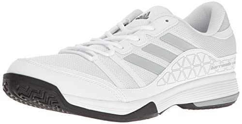 check out 15f50 c35e3 adidas Men s Barricade Court Tennis Shoes White Light Onix Black (10.5 M US