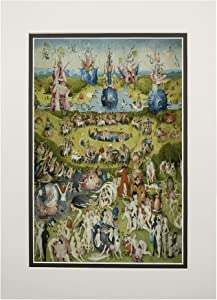 The Garden of Earthly Delights, (Artist: Hieronymus Bosch c. 1480), Masterpiece Classic 57228 (11x14 Double-Matted Art Print, Wall Decor Ready to Frame)