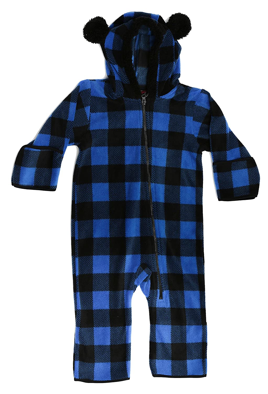 acb721f27 Amazon.com  At The Buzzer Baby Boys Fleece Pram Snowsuit Bunting ...