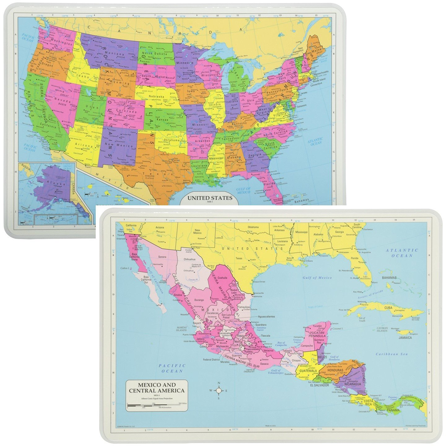 Map Of Central America And Usa