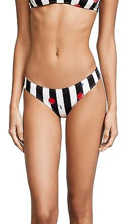 Excellent Cheap Outlet Store Womens Elle Cherry Striped Bikini Bottom Solid & Striped Shop For Great Deals Cheap Online Discount Wholesale zEBpLZb6