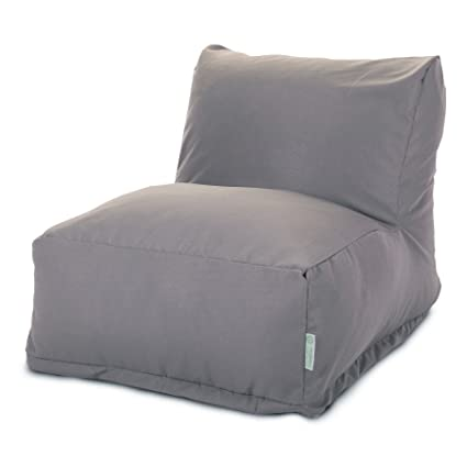 Majestic Home Goods Bean Bag Chair Lounger, Solid, Gray