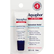 Aquaphor Lip Repair Ointment - Long-lasting Moisture to Soothe Dry Chapped Lips - .35 fl. oz Tube