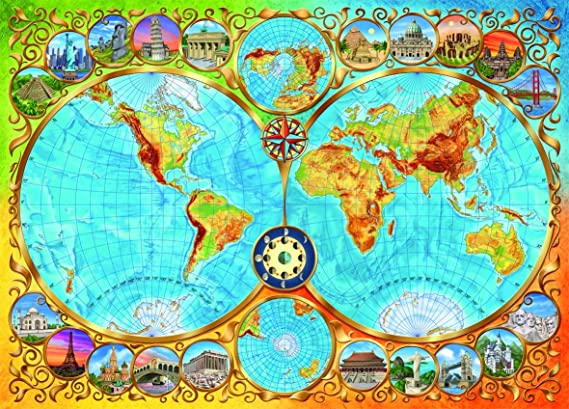 Schmidt world map jigsaw 3000 pieces amazon toys games gumiabroncs Image collections