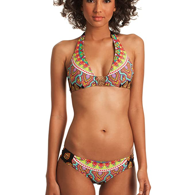e4e5cfdef331d6 Image Unavailable. Image not available for. Color  Trina Turk Women  Moroccan Medallion Halter Bikini Top ...