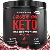 Crush On Keto - Exogenous Ketone Pre Workout Powder Drink - 0g Sugar, 0g Carbs (Natural Cherry Flavor)