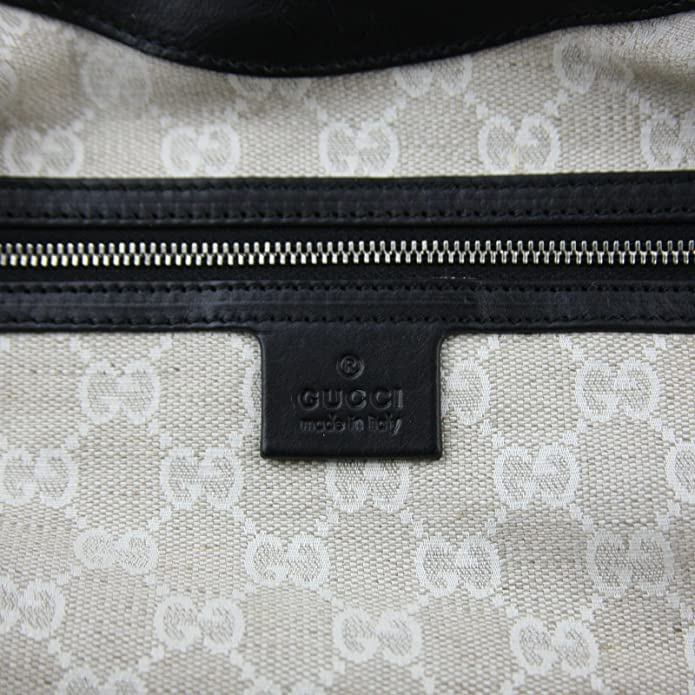0676a4cb857e8c Gucci Stirrup Black Washed Soft Calf Leather Medium Hobo Bag 296856 1000:  Amazon.ca: Shoes & Handbags