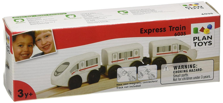Plan Toys Plan City Train /à grande vitesse en bois Jouet en bois