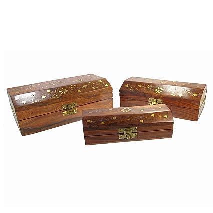 Amazon.com: Decorativo Caja de madera, corazones ...