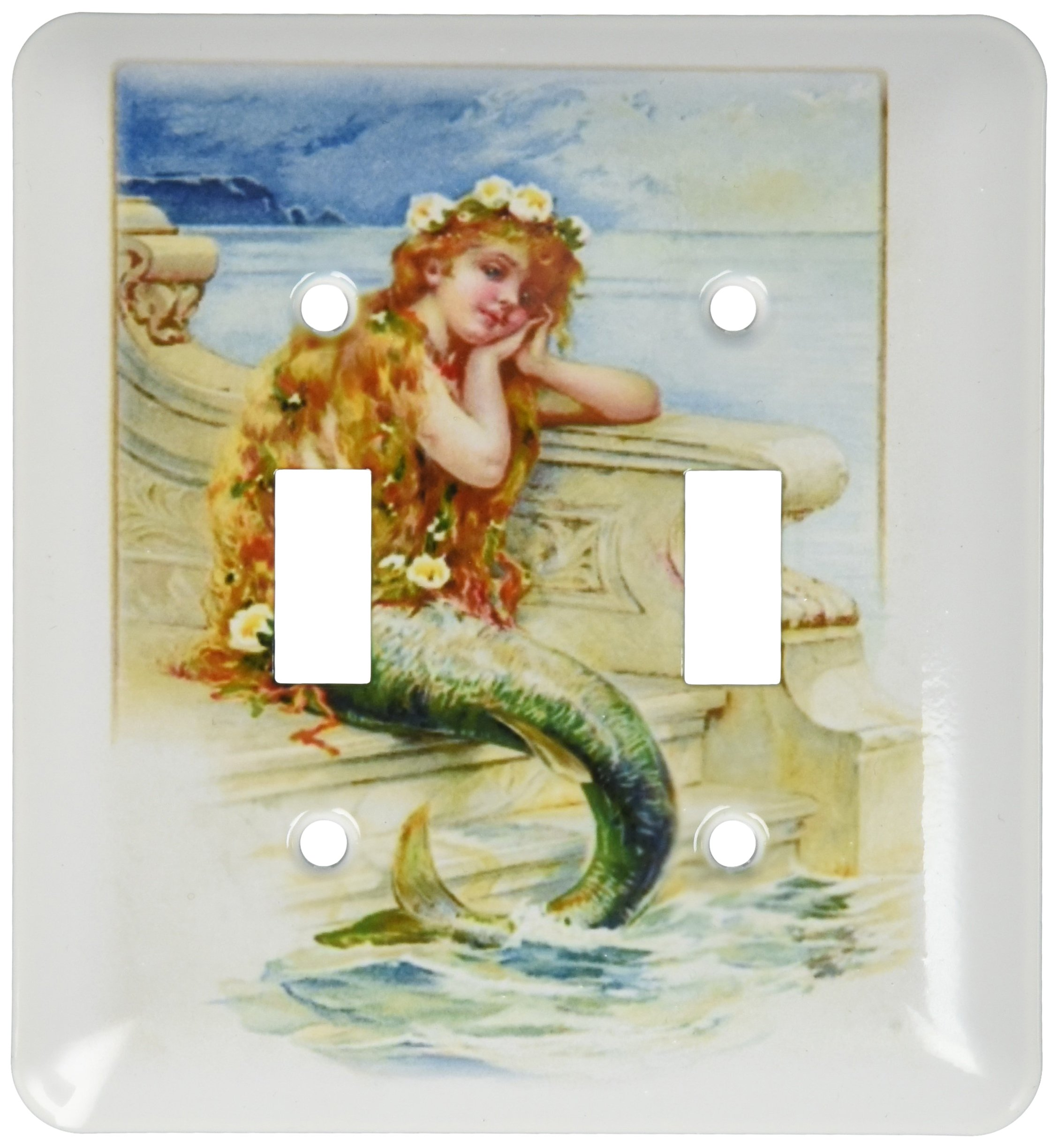 3dRose lsp_173963_2 Image of Hans Christian Anderson Mermaid Light Switch Cover