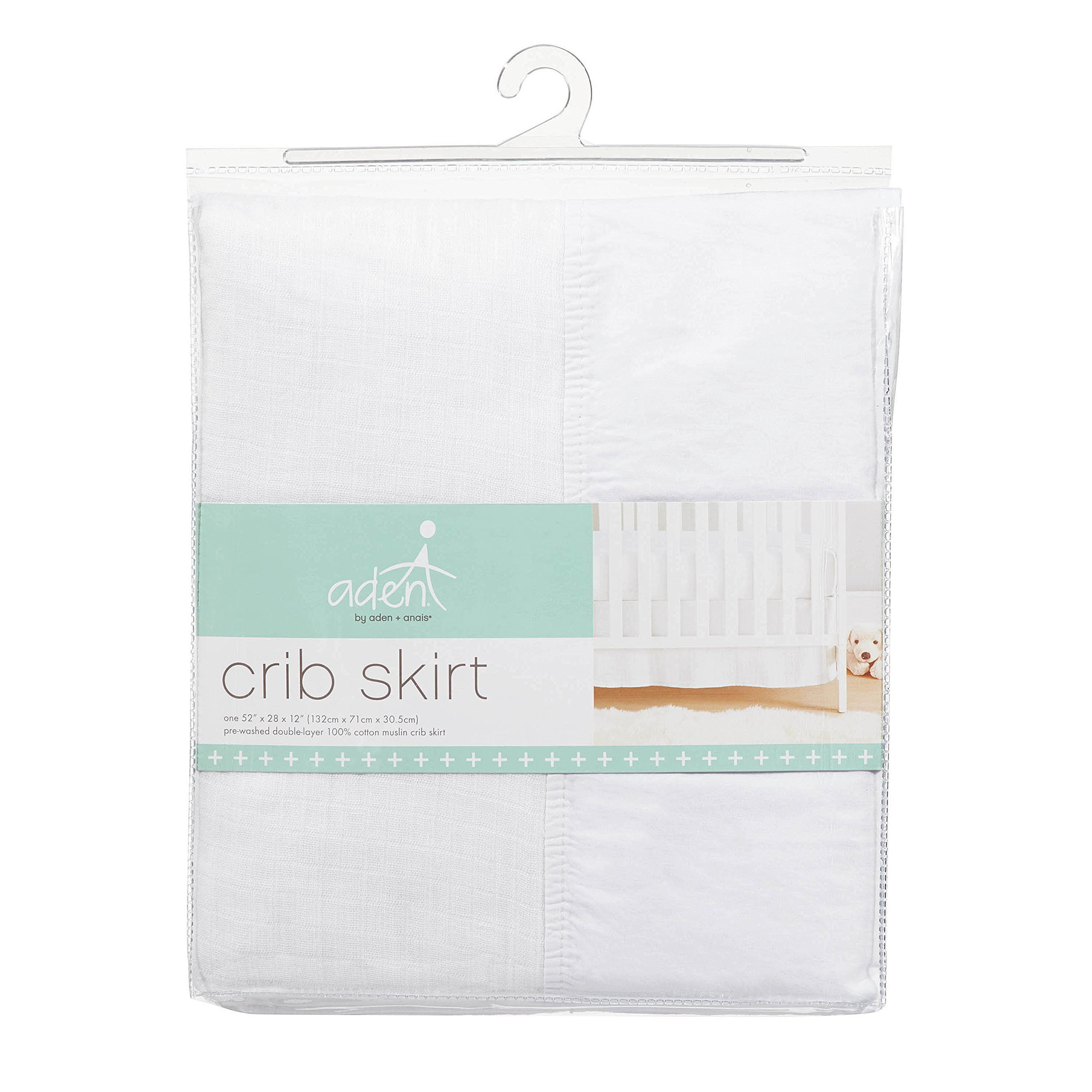 aden by aden + anais crib skirt, white
