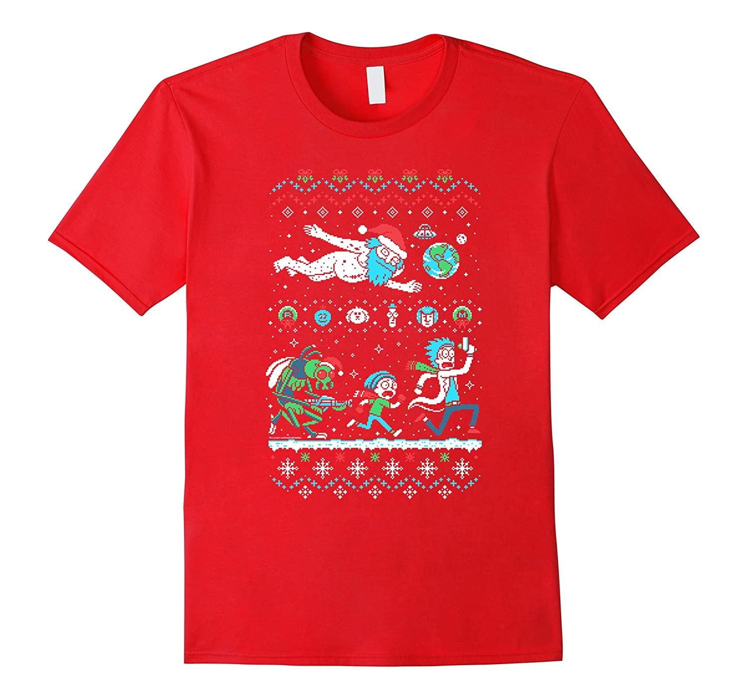 Merry Rickmas Rick And Morty Holiday Sweater T Shirt Rt