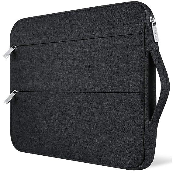 LXOICE Water-Resistant Nylon Laptop Sleeve 15.6 with Handle (Black) - Buy  LXOICE Water-Resistant Nylon Laptop Sleeve 15.6 with Handle (Black) Online  at Low ... f7395858e655d