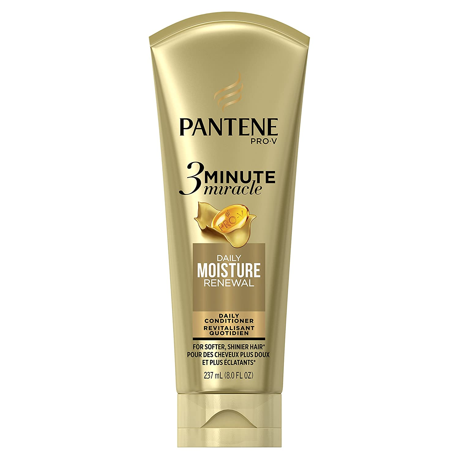Pantene Daily Moisture Renewal 3 Minute Miracle Daily Conditioner, 8.0 fl oz (Packaging May Vary)