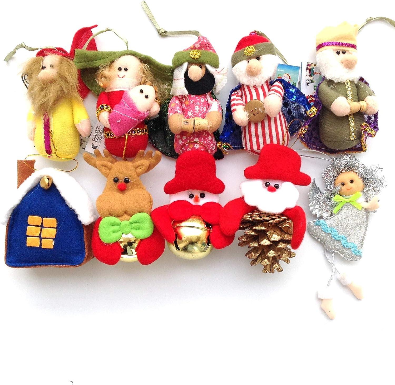 sin marcar 10pcs Adornos decoración Colgante muñecos para árbol de Navidad