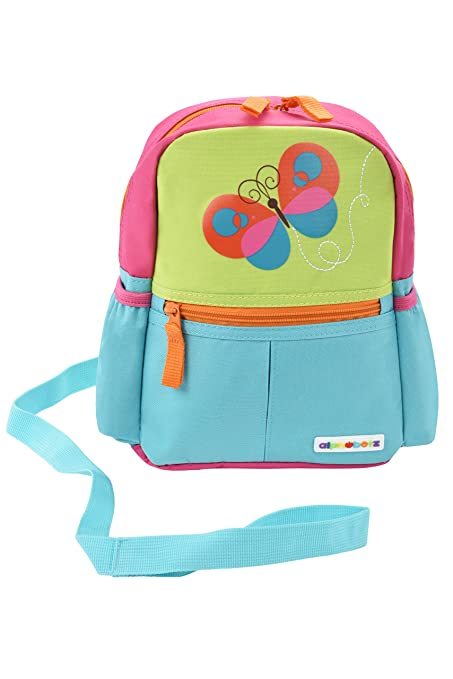 Alphabetz Butterfly Toddler Backpack with Leash, Safety Harness, for Girl Best Child Wrist Leashes