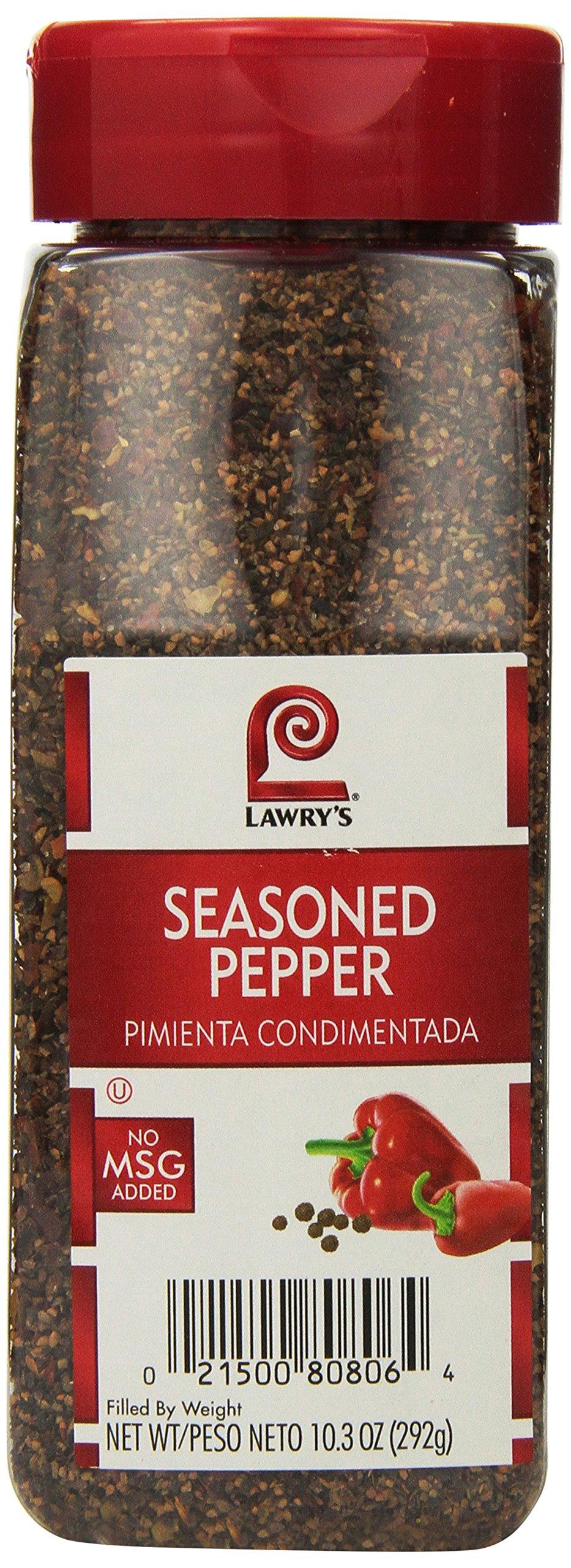 Lawrys Seasoned Pepper - 10.3 oz. container, 6 per case