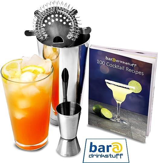 Compra Drinkstuff Bar - Juego básico de utensilios de coctelería ...