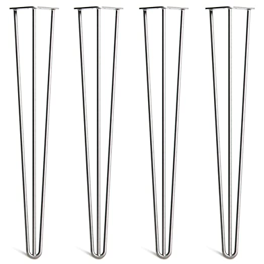 4 x hairpin table legs u2013 superior double weld steel with free screws build