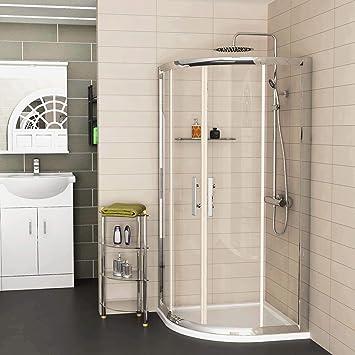 Walk In 6 mm cristal doble deslizante cuadrante ducha con acrílico ...