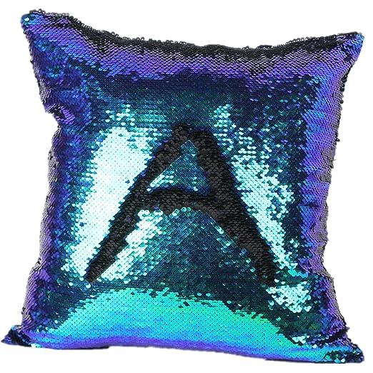 2 opinioni per xhorizon TM Throw Sirena Coperta del Cuscino Fodera Quadrato di Due Colori con